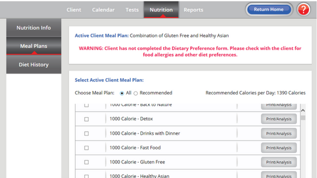 meal planning software