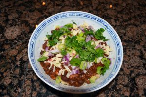 Vegetarian chili photo