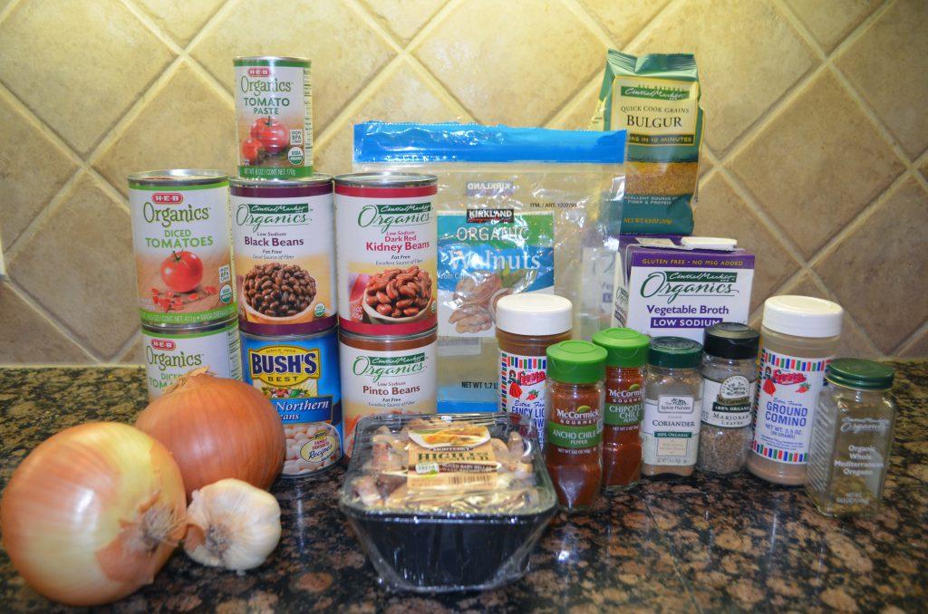 Vegetarian chili ingredients